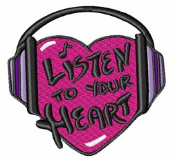 Listen To Heart embroidery design
