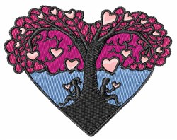 Love Tree embroidery design