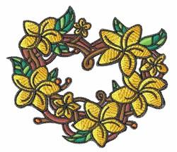 Plumeria Heart embroidery design
