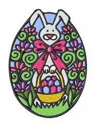 Bunny Egg embroidery design