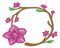 Floral Ring embroidery design