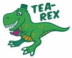 Tea-Rex embroidery design