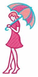 Umbrella Lady embroidery design