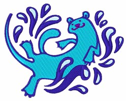 Otter embroidery design
