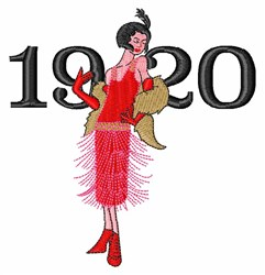 1920 Flapper   embroidery design