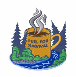Fuel For Survival embroidery design
