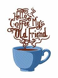 Hello Coffee embroidery design