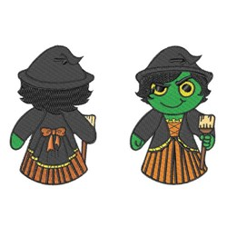 Witch Doll embroidery design