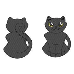 Black Cat Doll embroidery design