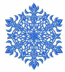 Snowflake Hexagon embroidery design