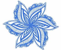 Swirl Star Mandala embroidery design