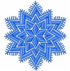 Decorative Snowglake embroidery design