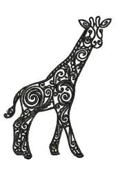 Tribal Giraffe embroidery design