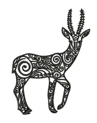 Tribal Gazelle embroidery design