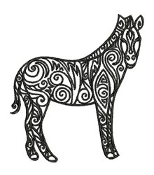 Tribal Zebra embroidery design