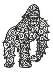 Tribal Gorilla embroidery design