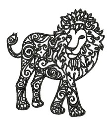 Tribal Lion embroidery design