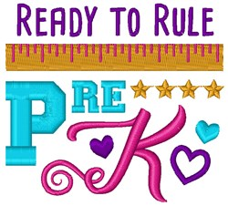 Ready To Rule Pre-K embroidery design