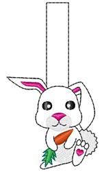 Bunny Key Fob Applique embroidery design