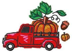 Pumpkin Truck embroidery design