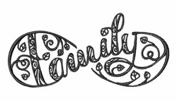 Blackwork Family embroidery design