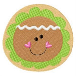 Gingerbread Christmas Cookie embroidery design