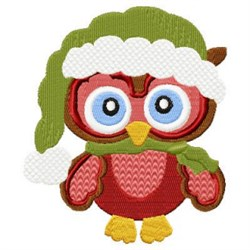 Winter Owl & Hat embroidery design