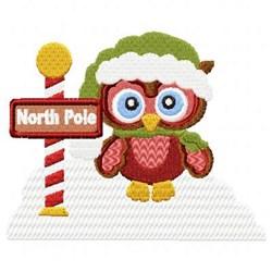 North Pole Owl embroidery design