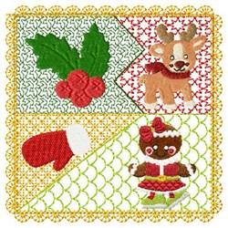 Reindeer Gingerbread & Mitten embroidery design