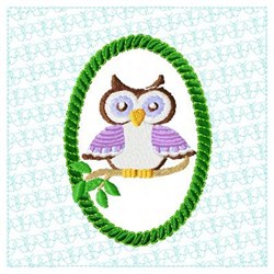 Lacy Owl Branch embroidery design