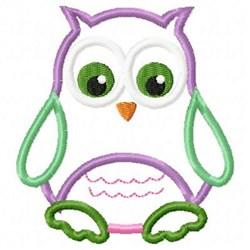 Applique Owl embroidery design