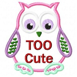 Applique Owl Cute embroidery design