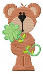 Bonnie Bear Clover embroidery design
