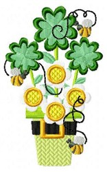St Pattys Flowers 1 embroidery design