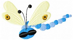 Blue Dragonfly embroidery design