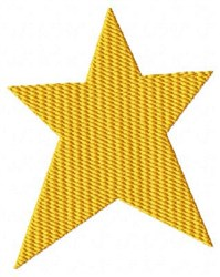 Gold Yellow Star embroidery design