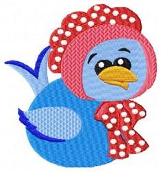Blue Bird & Bonnet embroidery design