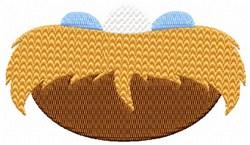 Nest & Blue Eggs embroidery design