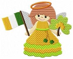 Irish Angel & Flag embroidery design
