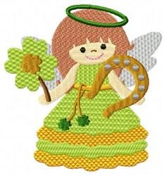 Irish Angel Horseshoe embroidery design