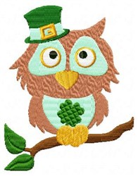 St Pattys Owl embroidery design