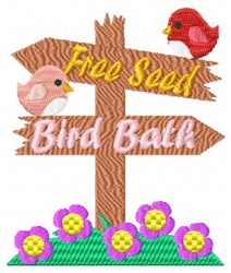 Birds & Flowers embroidery design
