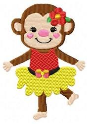 Dancing Yellow Monkey embroidery design