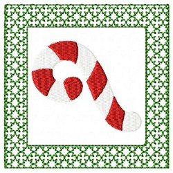 Lacy Candy Cane embroidery design