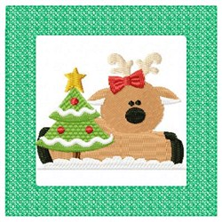 Lacy Reindeer & Tree embroidery design