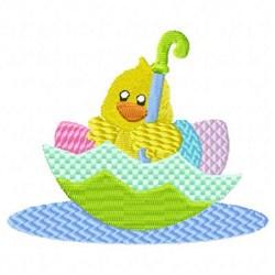 Easter Chick Umbrella embroidery design