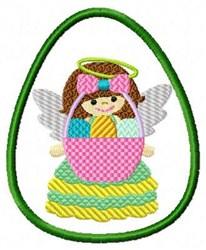 Easter Egg & Angel embroidery design