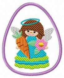 Easter Egg & Angel embroidery design