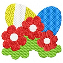 Easter Red Flowers embroidery design