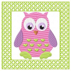 Lacy Owl Hearts embroidery design